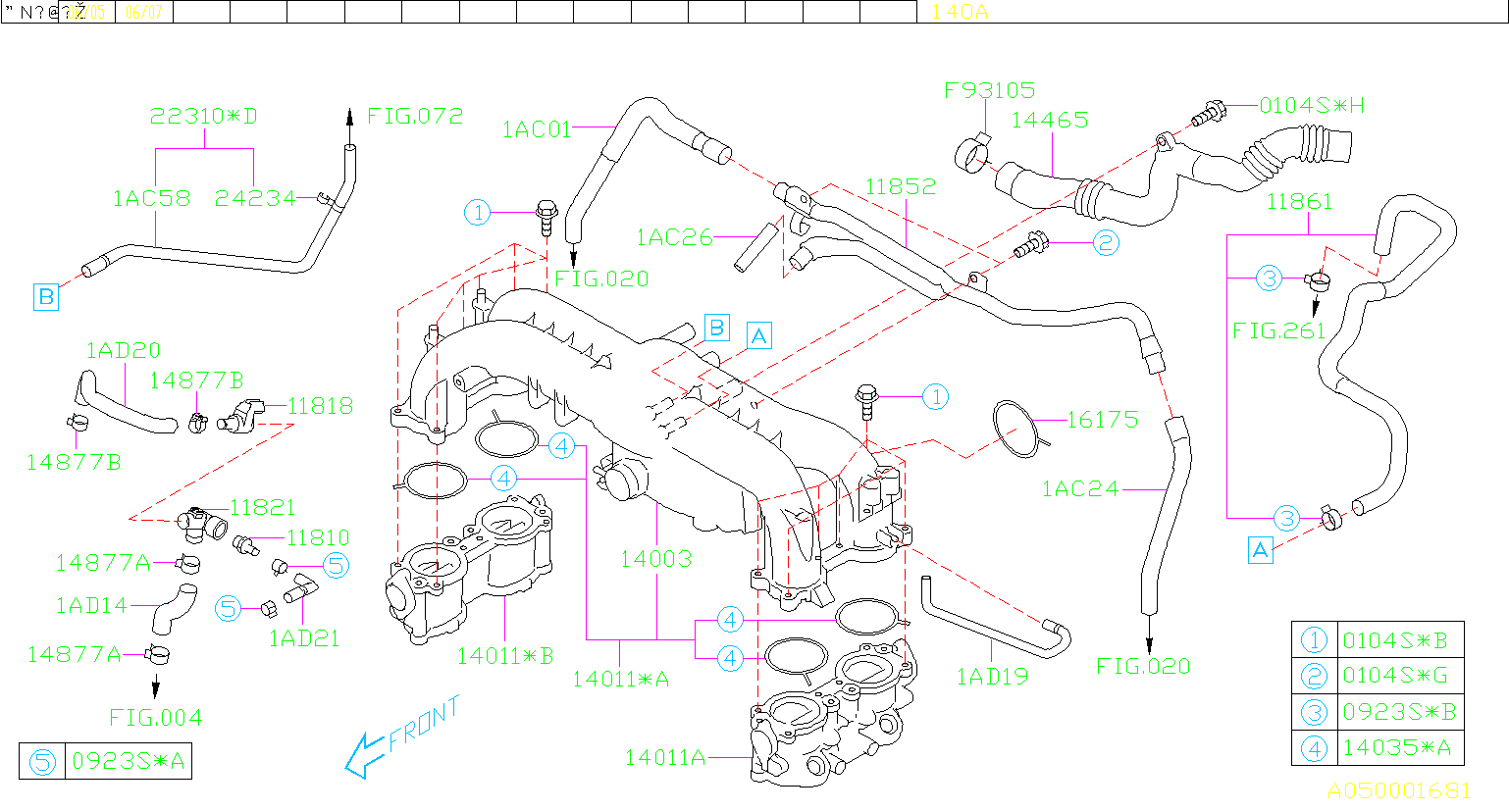 Diagram INTAKE MANIFOLD. INTAKEMANIFOLD BODY & PCV PIPE '07MY-. for your 2009 Subaru Legacy